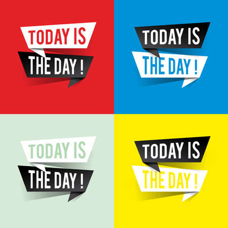Modern design today is the day text on speech bubbles concept. Vector illustration 일러스트