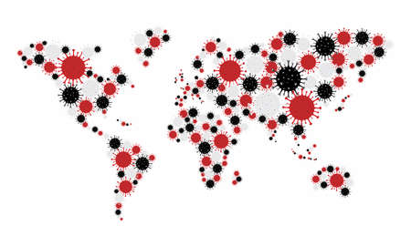 New Coronavirus Covid-19 world map concept design vector illustration