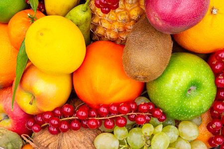 Fresh fruits assortment concept background