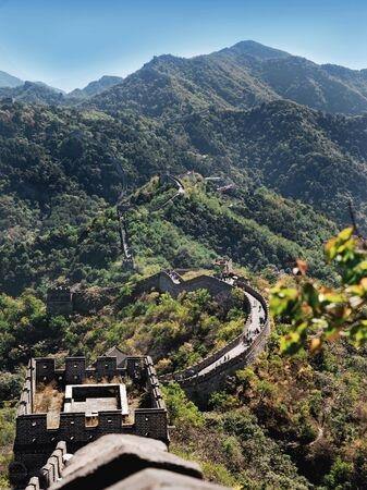 simatai: great wall of china Stock Photo