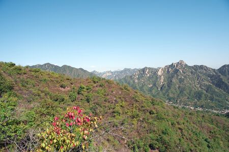 jinshaling: view from the great wall Stock Photo