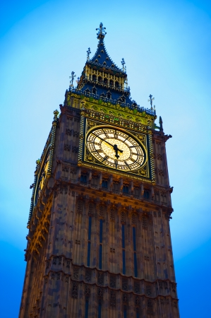 London Big Ben clock tower Stock Photo
