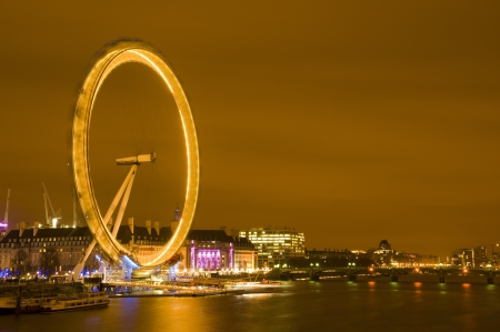 London Eye touristic attraction in central London
