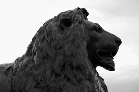Lion sculpture in London, uk Stock Photo