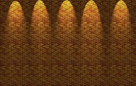 Iluminated brick wall photo