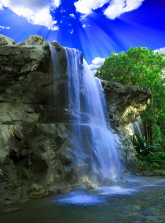 Magical waterfall photo