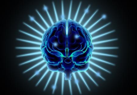 Computerized human brain photo