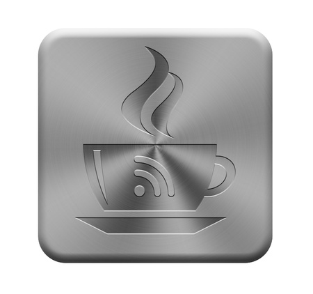 Rss button showing coffee cup