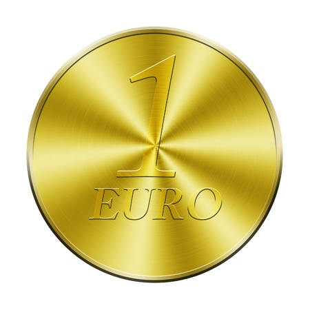 One euro golden coin Stock Photo