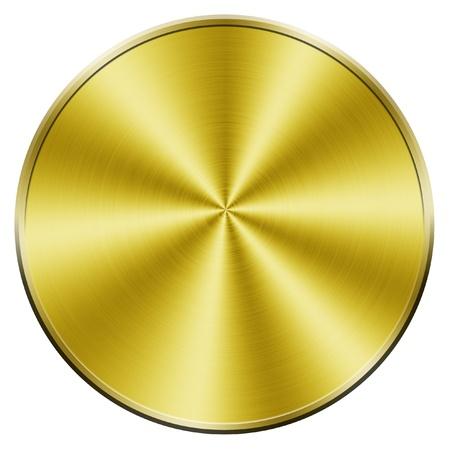 Golden blank coin photo