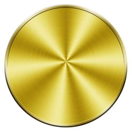 Golden blank coin