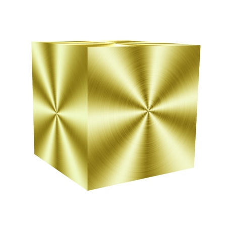 Golden cube photo