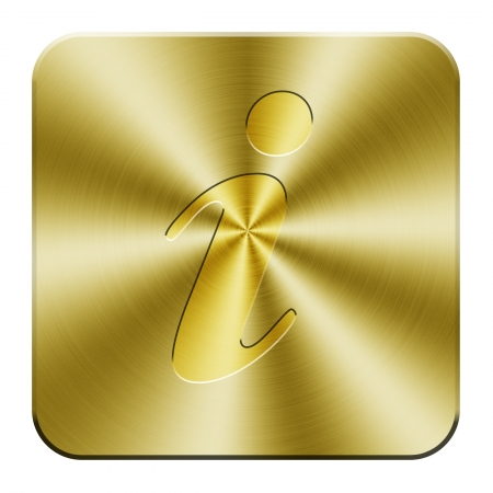 Golden information icon