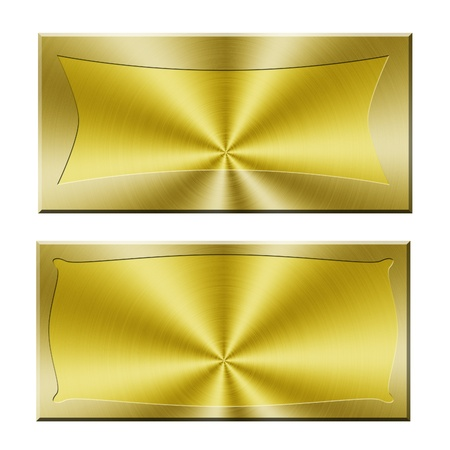 Golden banners Stock Photo