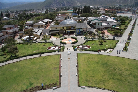 0 geography: Mittad del mundo, middle of the world at latitude 0 in Ecuador