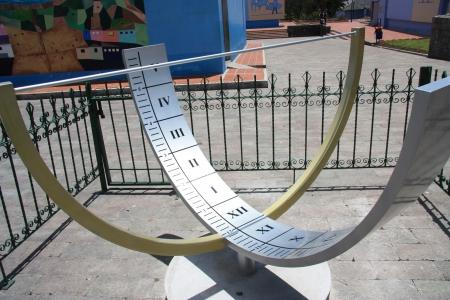 0 geography: Solar clock. Ecuador