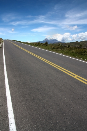 Climbing road to the sky  Pan american highway in Ecuador photo