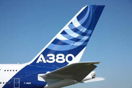 Tail of the airbus A380