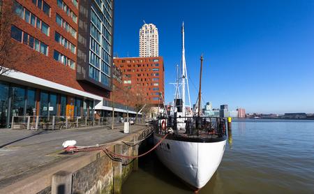 alongside: Sailing boat alongside in Rotterdam. nobody