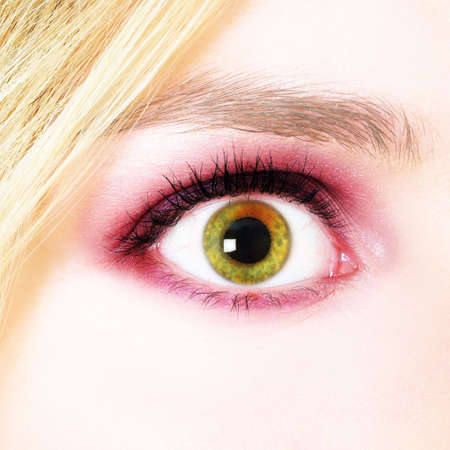 hypnotise: Picture of a womans eye Stock Photo
