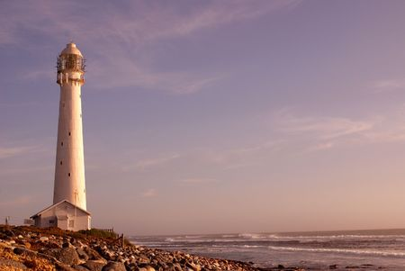 The Slangkop Lighthouse in Kommetjie, Western Cape. The tallest lighthouse in South Africa. photo