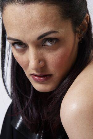 Beautiful mature brunette woman Stock Photo - 3329157