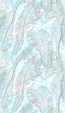 blue and gray feathers