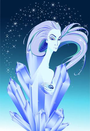 結晶雪の女王 写真素材 - 8704687