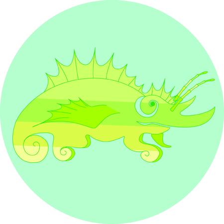 fantastic chameleon Illustration
