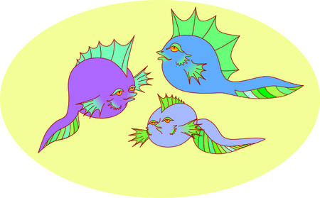 colored tadpoles
