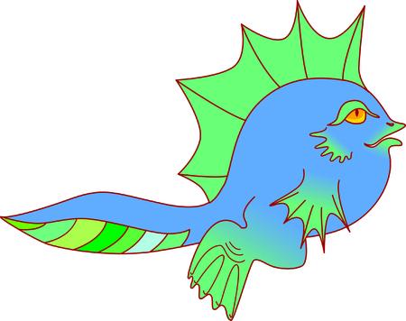 renacuajo: tadpole azul