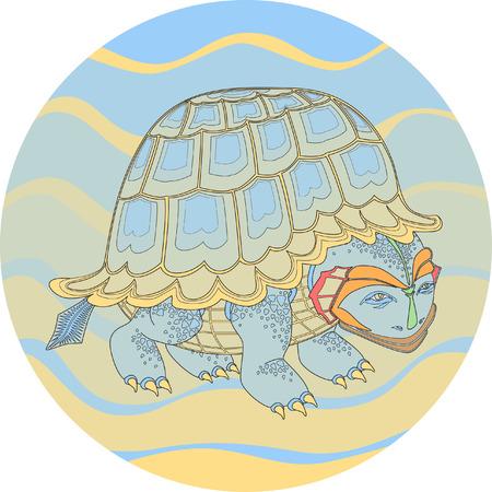turtle color Illustration
