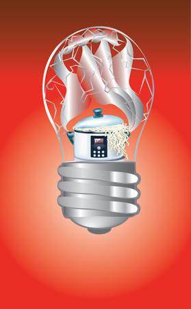 bulb pan Illustration