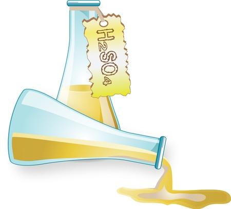 chemistry formula: sulfuric a Illustration
