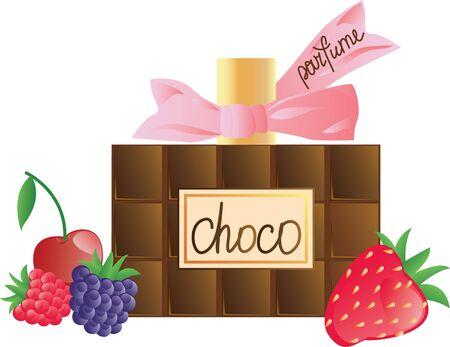 irresistible: chocolate perfume Illustration