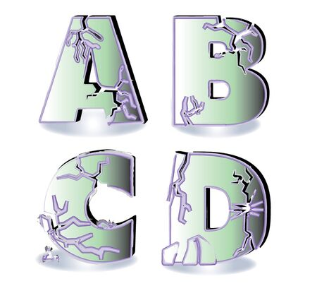 basic letters: initial letters of the alphabet