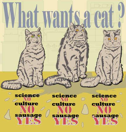 three cats Stock Vector - 11383211