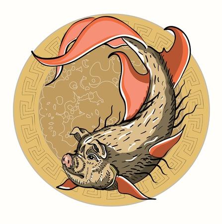 fish pig Stock Vector - 11854673