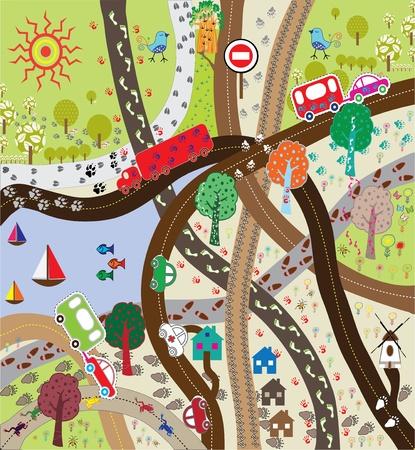 illustrator: Footprints on the Road