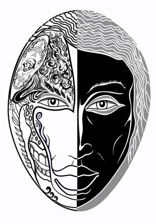 hair mask: men mask Illustration