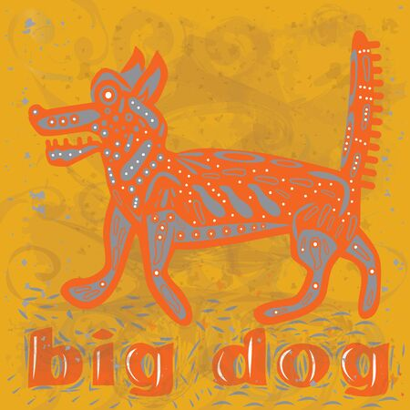 big dog  Illustration