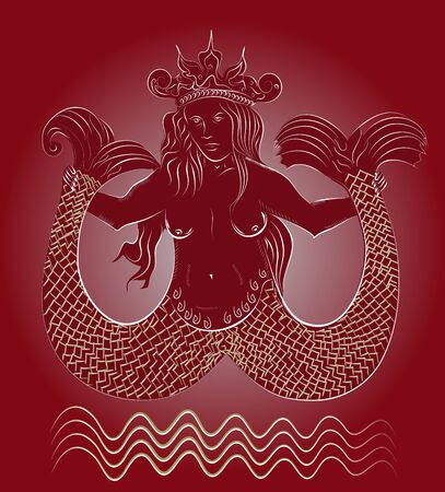 sea queen  Illustration