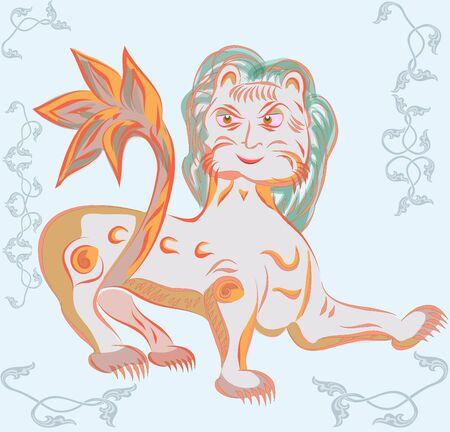 slavic: slavic lion  Illustration