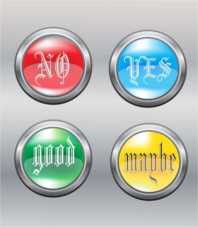four buttons Stock Vector - 14776971