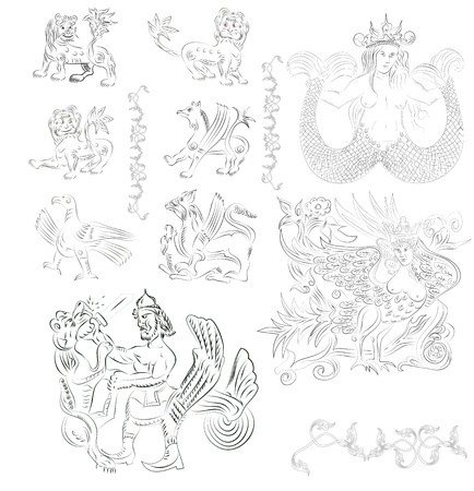 fairy tale characters  Illustration