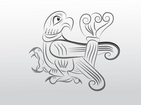 slavic: Slavic bird Illustration