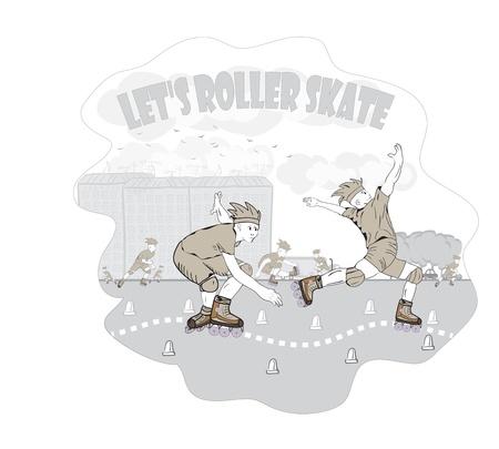 roller skate Stock Vector - 15176911