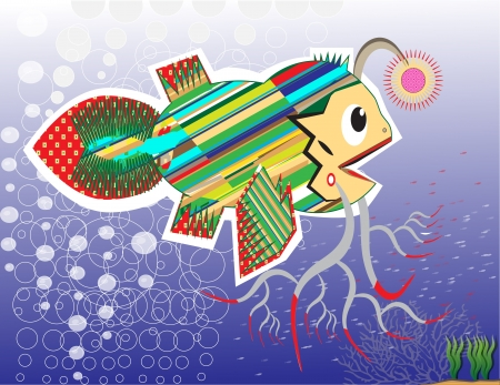 young fish lamplighter Stock Vector - 15314292