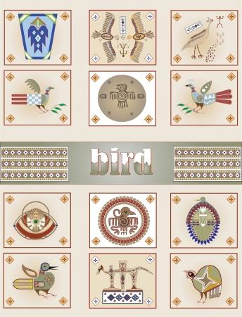 aborigines: American Indian bird Illustration