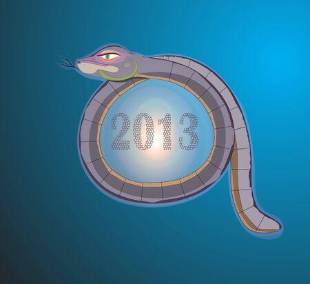 gray snake Stock Vector - 16976647